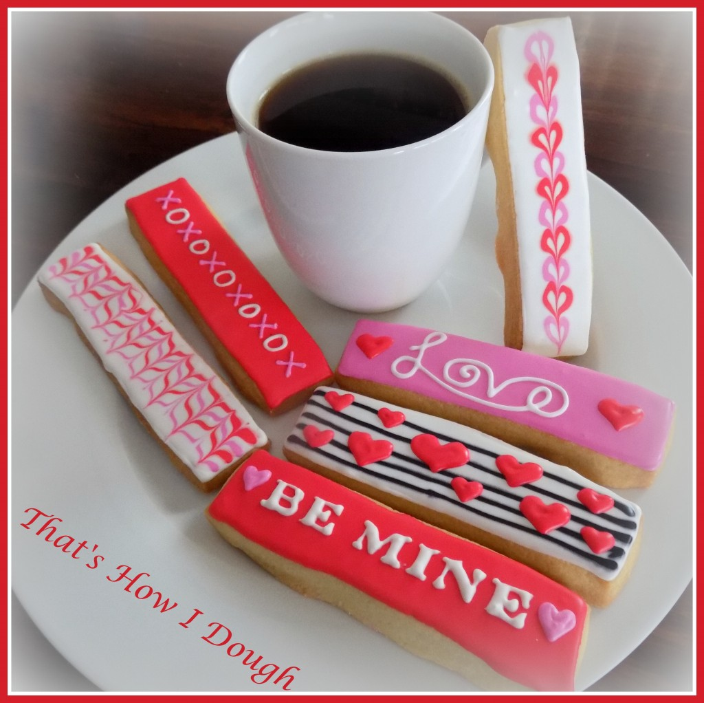 Valentine's Cookie Drink Dippers- That's How I Dough
