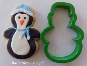 Penguin on a snowman cookie cutter- That's How I Dough