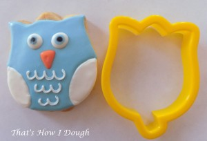 Owl on a tulip cookie cutter- That's How I Dough