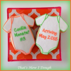 That's How I Dough Baby Announcement Cookies