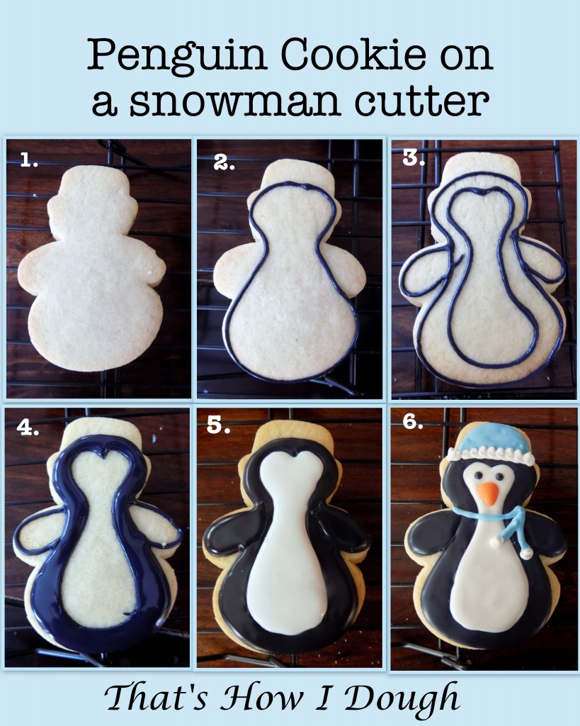 Make a Penguin Cookie on a Snowman Cutter- That's How I Dough