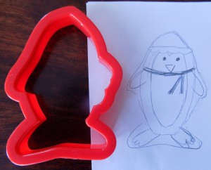 Penguin on a fish cookie cutter- That's How I Dough