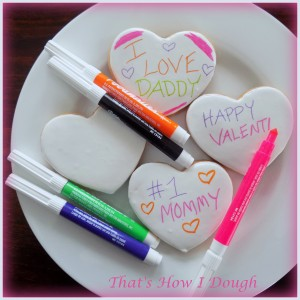 Color Your Own Valentine's Day Cookies- That's How I Dough